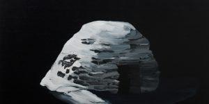 S.t., smalto su tela, 80x60 cm, 2018