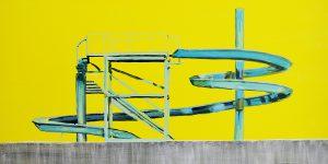 Big-yellow,-2011,-smalto-su-tela,-82x100-cm